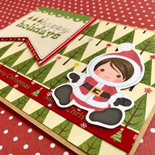 🚚 Christmas Card - Santa Girl