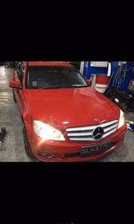 Red Mercedes C180 at $1800per month