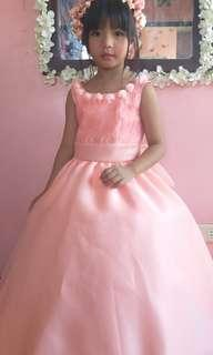 Peach flower girl gown for rent