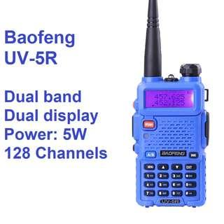 🚚 New arrival!!! BaoFeng UV-5R UV5R Walkie Talkie Dual Band VHF / UHF 136-174Mhz & 400-520Mhz blue high power, 3d generation, long range convoy travel marine construction BLUE