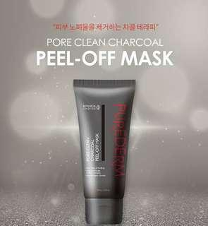 Purederm Pore-clean Charcoal Peel-off mask