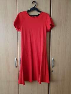 Uniqlo Red Dress