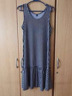 Uniqlo Striped Jersey Dress