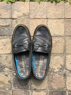 Sperry Boat Shoes Blue Leather