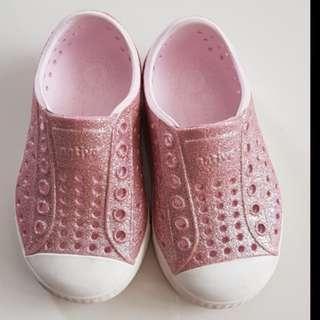 Native pink milk bling Girls Shoes