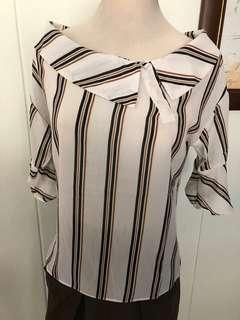 BN Top with stripes. For S/M