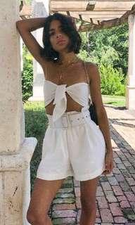60's WHITE TOP AND BELT