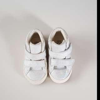 Zara holographic baby shoes
