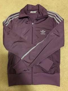 Women's purple adidas zip up size small