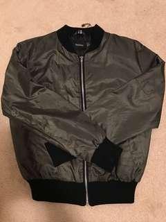 BOOHOO olive bomber jacket US size 4