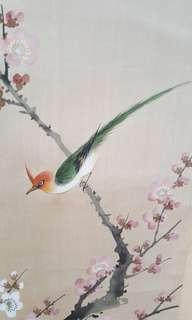 Chinese Paintings. Hand Painted on Silk.