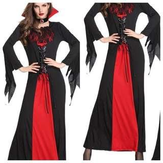 IN STOCK Adult Female Dracula costume female vampire costume Halloween costume witch evil costume fright night costume Halloween horror costume party costume Cosplay ghost ghoul scary costume