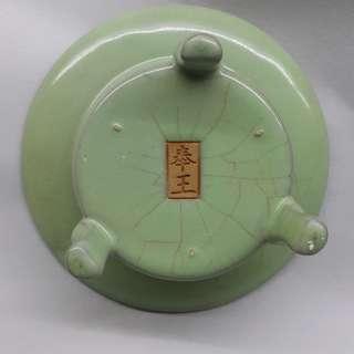越窑叁足杯-高70mm*口徑120*底足70