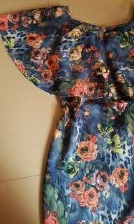 Floral print off-shoulder dress