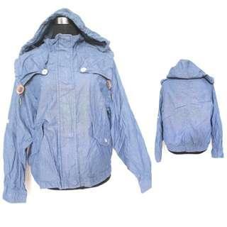 Cotton Denim Hooded Jacket