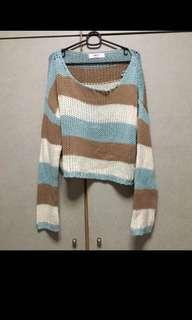 OVERSIZED KNIT CONTRAST SWEATER#carouween40
