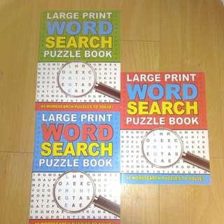 BRANDNEW 40 SETS LARGE PRINT WORD SEARCH PUZZLE