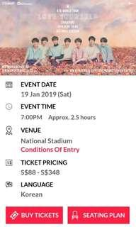 (LF/WTB) Bts love yourself tour concert tickets