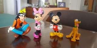 Disney Mickey Minnie Goofy Pluto figurine