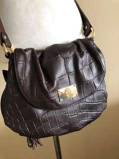 Just Cavalli brown leather bag, new