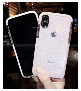 Iphone XR clear diamond tpu casing