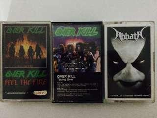 ⭐️ Used Cassette Tape : Overkill & Abbath Combo All 3 RM80 Siap Pos