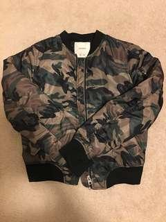 PULL&BEAR women's camo bomber jacket