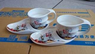 🚚 聖誕節氣氛 咖啡杯/茶杯組(兩組)