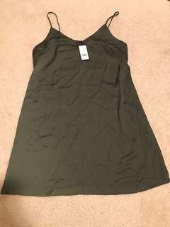 Dynamite olive slip dress BNWT