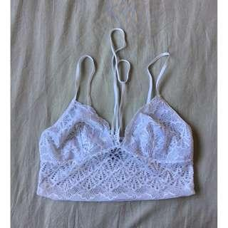 Bralette Lace White Size Medium With Choker Detail Never Worn