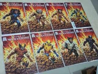 Return of Wolverine comics #1 8-variant set comic