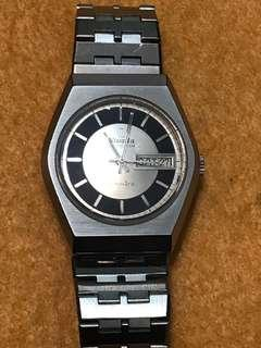 Nivada Grenchen automatic day date Seiko watch
