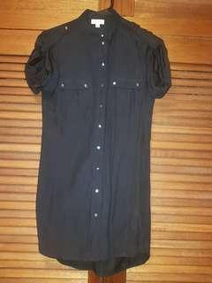 Witchery button up dress sz 4
