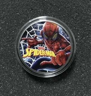 Tuvalu 2017 $1 MARVEL SPIDER-MAN 1 oz 999 Ruthenium Colored Silver Coin