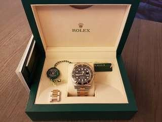 ROLEX SUBMARINER HALF GOLD 116613