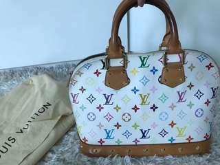 9d15d633c803 Authentic Louis Vuitton Alma White multicolor great condition multi Color Lv