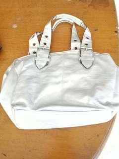 Silver Gray Handbag