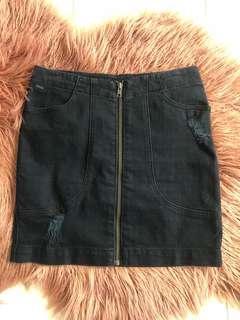 Riders by Lee High Waisted Black Denim Skirt