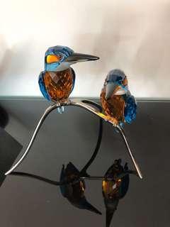 SWAROVSKI CRYSTAL PARADISE BIRDS - KINGFISHERS BLUE TURQUOISE 945090
