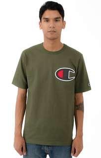 Champion Life Heritage Large C Logo Tshirt - Hiker Green