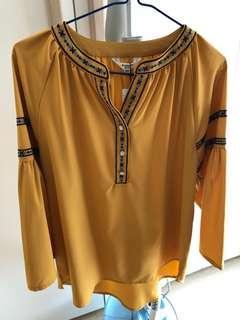 MAKELET LYON 黃色民族長袖衫