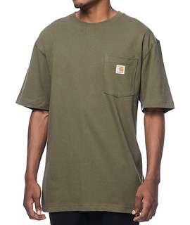 Carhartt Workwear Plain Pocket Tshirt - Army Green