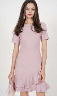 MDS - BNWT Celestia Ruffled Dress in Mauve (rtp $52.90)