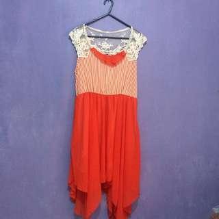 Korean Style Orange Dress