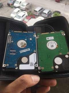 HDD both 500GB