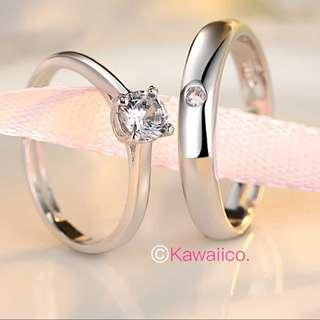 🚚 💎 S925 silver Couple Ring