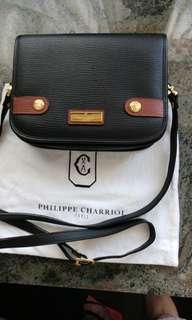 Philippe Charriol 真皮斜揹袋