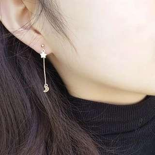 ✨FREE SHIPPING Moon & Stars Drop Earrings