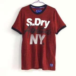 🚚 BN Superdry Athletics Tee in Maroon
