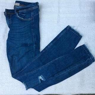 Zara Knee Ripped Pants